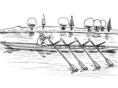 American - Japanese boat race